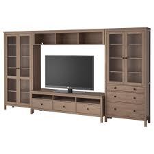 hemnes tv storage combinationglass doors gray brown ikea i