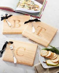 monogram cheese board monogrammed cheeseboard with knife cutlery gadgets kitchen