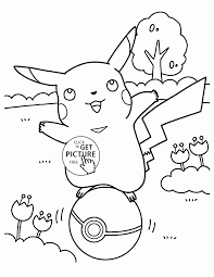 pikachu pokemon coloring pages for kids pokemon characters