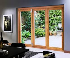 decor sliding french patio doors lowes with brown wood frame for