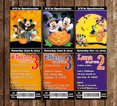 halloween bday party invites novel concept designs disney mickey mouse spooky halloween