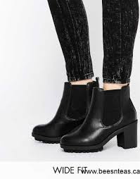 womens wide ankle boots canada look wide fit heeled ankle boots black shoes look