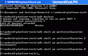 android shell commands use adb method to install apps or move installed applications to