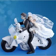 sujet mariage figurine mariage du de mariés sur moto 12 cm badaboum