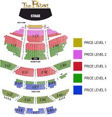 Miller Park Seating Map Pabst Theater Milwaukee Tickets Schedule Seating Charts Goldstar