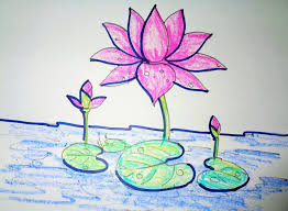 lotus flower drawing how to draw lotus step step easy drawing