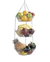 3 tier fruit basket kitchencraft 3 tier hanging vegetable and fruit basket reviews