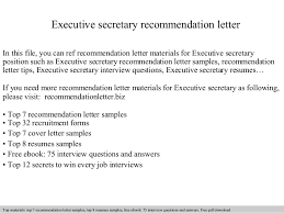executive secretary recommendation letter 1 638 jpg cb u003d1409085007