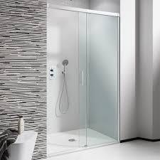 simpsons design 1200mm hinged shower door with inline panel