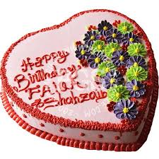 birthday cake delivery kitchen cuisine flower heart cake cake delivery to lahore