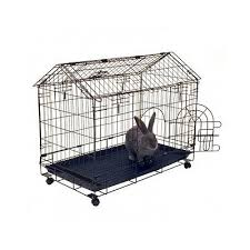 indoor rabbit cage rolling house wire metal bunny hutch kennel pen