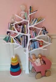 bookcase for baby room our popular tree bookcase creates a stunning display in this girly