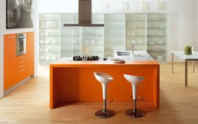 Orange And White Kitchen Ideas Beautiful Orange Color Rectangle Shape Floating Dining Table With