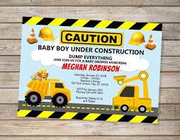 construction baby shower construction baby shower invitation custom dump truck boy