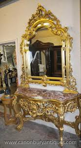 hallway table and mirror sets french louis gilt console table mirror set hall tables louis
