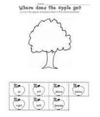 apple positional words activity from teaching heart blog