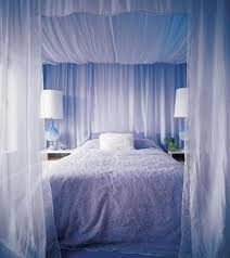 Curtain Beds Canopy Bed Curtain In Blue Color With Floral Pattern Quilt And