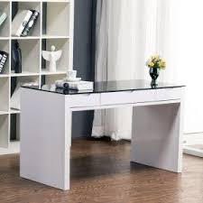 White High Gloss Computer Desk Small Computer Desks For Home Offices Apartments High Gloss