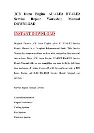 jcb isuzu engine au 4 le2 bv 4le2 service repair workshop manual down u2026