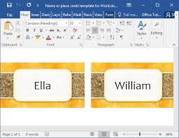 how to make printable place cards in word