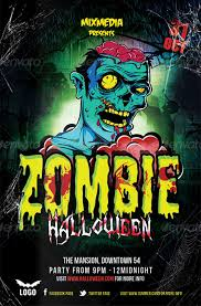 21 Zombie Flyer Templates Free Psd Eps Ai Indesign Word
