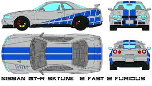 nissan skyline fast and furious 1 nissan gt r skyline 2 fast 2 furious by bagera3005 on deviantart