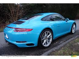 miami blue porsche gt3 rs 2017 porsche 911 carrera 4 coupe in miami blue photo 7 106232