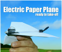 electric paper plane 6 steps