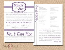 modern wedding programs items similar to modern wedding program 5x7 on etsy