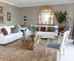 side chairs living room raw wood coffee with white slip covers living room eclectic and