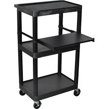 stand up l with shelves luxor laptop computer work presentation station model lt45 b