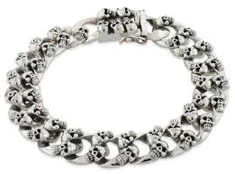 bracelet skull silver images Sterling silver skull curb chain bracelet gif