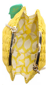 kate spade new york wicker lemon shoulder bag shopbop