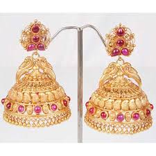 gold earrings for marriage 2013 collections of gold jhumka jhumikki designs