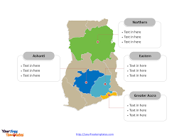 Central And Northern Asia Political Map by Free Ghana Map Template Free Powerpoint Templates