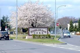japanese town american base town in northern japan us and japanese air forces at