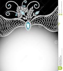 background frame with jewels of silver ornaments royalty free