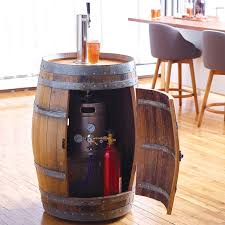 Beer Kegerator Recycled Wine Barrel Kegerator The Green Head