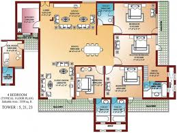 apartments house plan for 4 bedroom bedroom apartment house