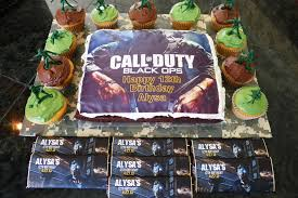 call of duty cake topper call of duty black ops cake and party favors kids birthday