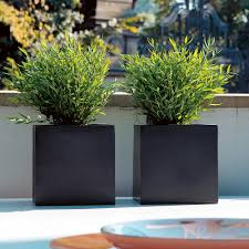 Planters And Pots Fiberstone Planters And Flower Pots In A Modern Design