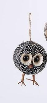 one hundred 80 degrees feather owl ornament choice of styles
