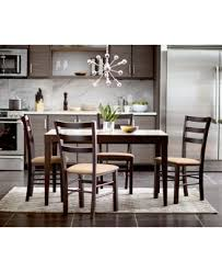 Café Latte Glass Top Expandable Dining Table Furniture Macys - Dining room table glass