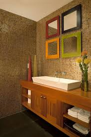 Modern Powder Room Reflection Of Style Glam Up Your Property With A Dazzling Mirror