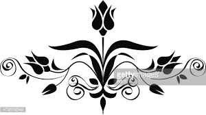 tulip ornament vector getty images