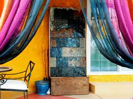 how to make a slate water wall feature hgtv