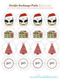 christmas cookie exchange printables penguin theme free