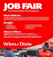 winn dixie cocoa beach job fair tickets wed apr 19 2017 at 9 00