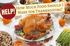 make the amount of food this thanksgiving sparkpeople