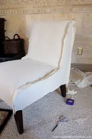 Accent Chair Slipcover Slip Covering An Armless Accent Chair Great Tutorial This Could